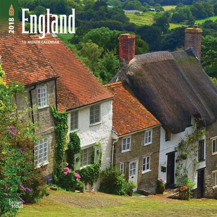 England 2018 12 x 12 Inch Monthly Square Wall Calendar  ISBN: 978-1-4650-9579-4