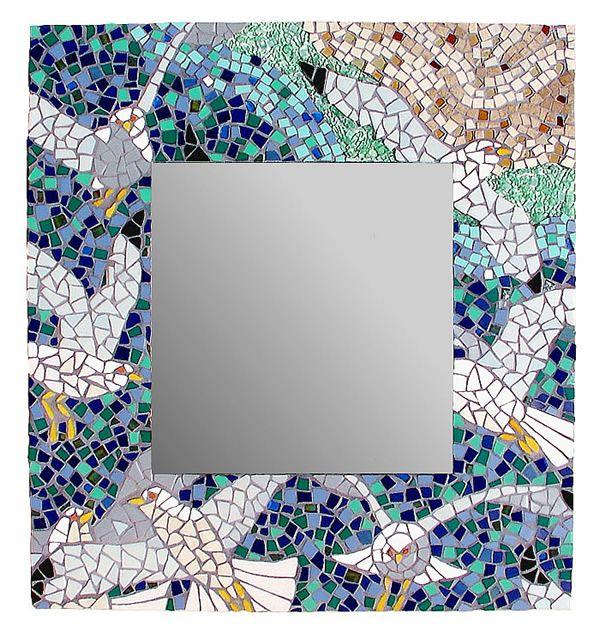 Seagull Mosaic Mirror