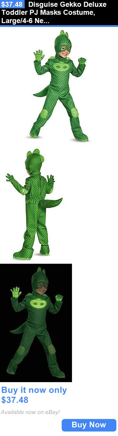 Halloween Costumes Kids: Disguise Gekko Deluxe Toddler Pj Masks Costume, Large/4-6 New BUY IT NOW ONLY: $37.48