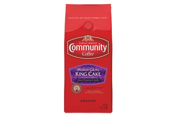 Community Coffee Mardi Gras King Cake