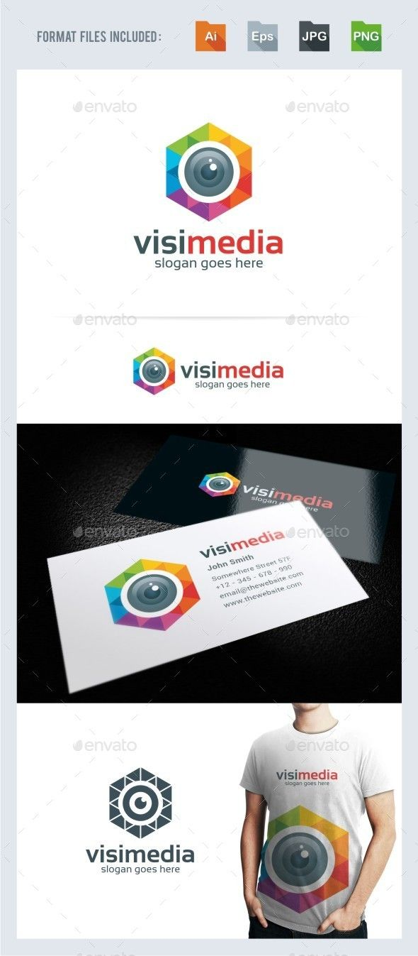 Vision Media Photography Logo TemplateLogo is made with vectors for easy resizing and customizing all texts can be rewritten eve