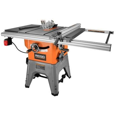 RIDGID 13 Amp 10 in. Professional Cast Iron Table Saw-R4512 - The Home Depot quinientos cuarenta y nueve dólares