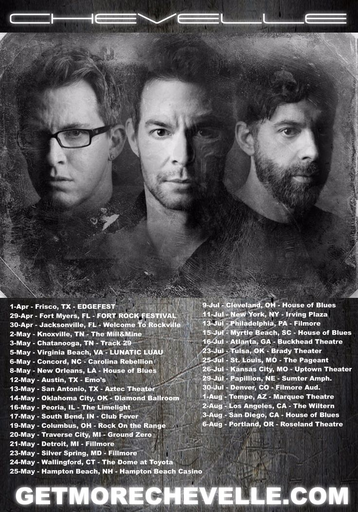 Chevelle announces US Tour dates #chevelle #ChevBBM #TheNorthCorridor #DoorToDoorCannibals