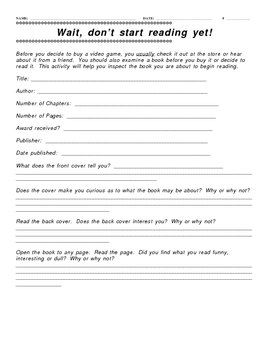 Collection of Pre Reading Worksheets - Sharebrowse