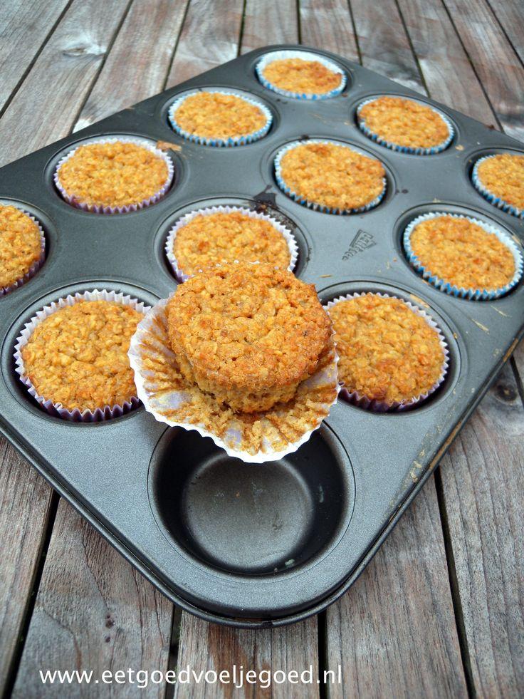 Werk vooruit en wees de ochtendstress voor met deze havermout cupcakes uit de…