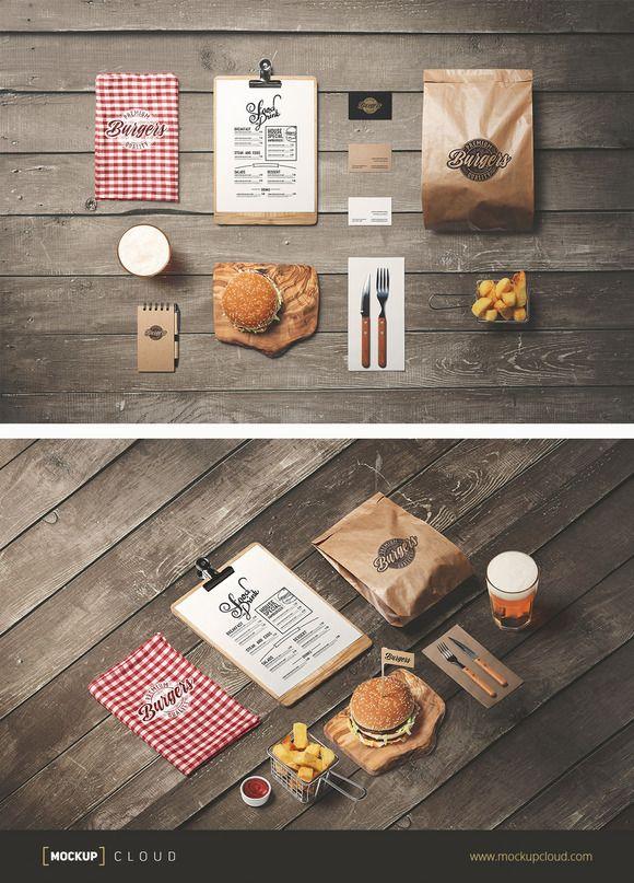 Burger Store Mockup Creator by Mockup Cloud on @creativemarket