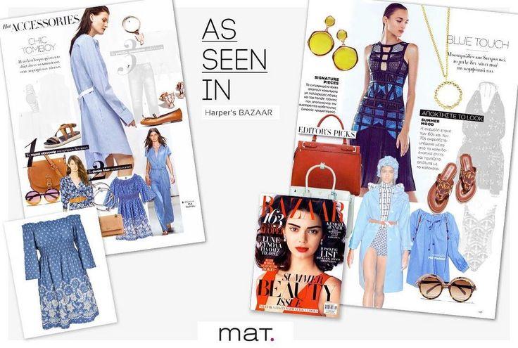 Καλοκαιρινό #matfashion boho style στις αποχρώσεις του μπλε, στο νέο τεύχος του περιοδικού Harper's Bazaar ! Γιατί το μπλε δεν χάνει ποτέ την γοητεία του...! Ανακάλυψε το οpen-shoulder φόρεμα με floral κέντημα ➲ code: 671.7305 Ανακάλυψε τη μεγάλη συλλογή σε μπλούζες σε όλες τις αποχρώσεις του μπλε, στα αποκλειστικά καταστήματα αλλά και online! #springsummer2017 #collection #harpersbazaar #magazine #harpersbazaarus #style #instafashion #fashionista