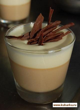 Рецепт: Кофейная панакота с кремом из белого шоколада