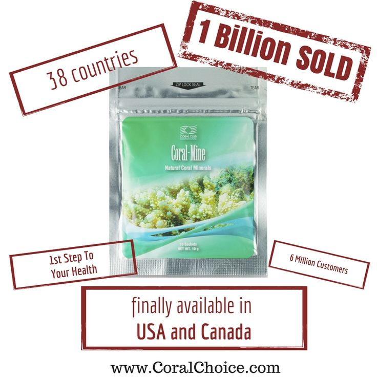 6 Million Customer in 38 countries. 1 Billion #CoralMine Sachets Sold. Now in USA and Canada. Try it Now: