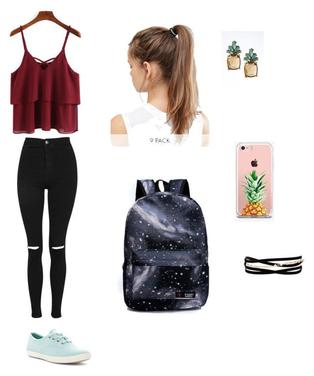 """iskola kollekció"" by kalovics-dominika ❤ liked on Polyvore featuring Topshop, Keds, The Casery, NIKE, Banana Republic and Kenneth Jay Lane"