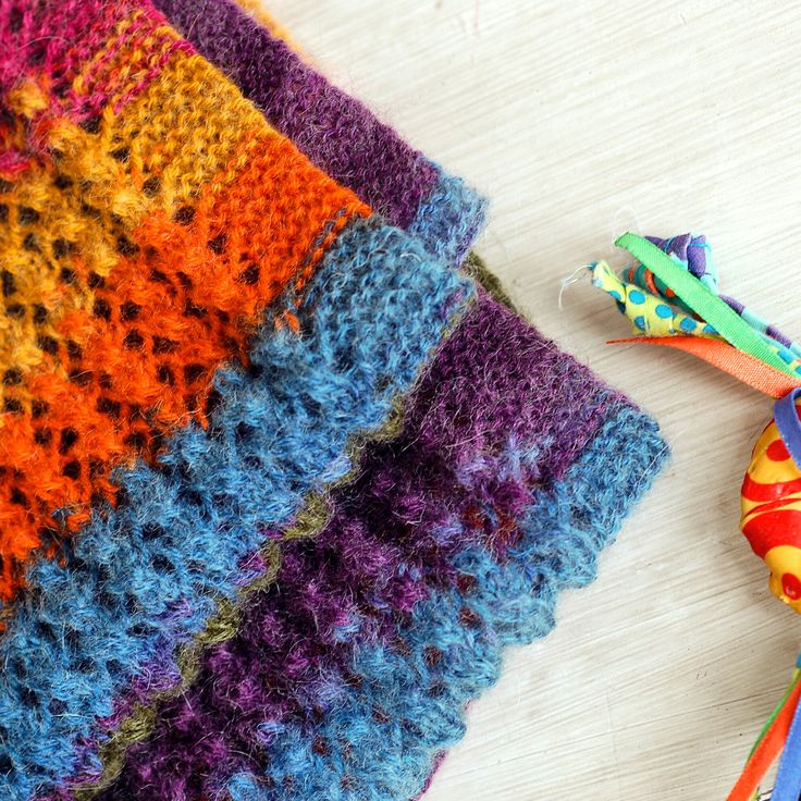 Colorful Scarf,  Knitted by my mother. // Renkli Atkı, Anneciğim ördü.