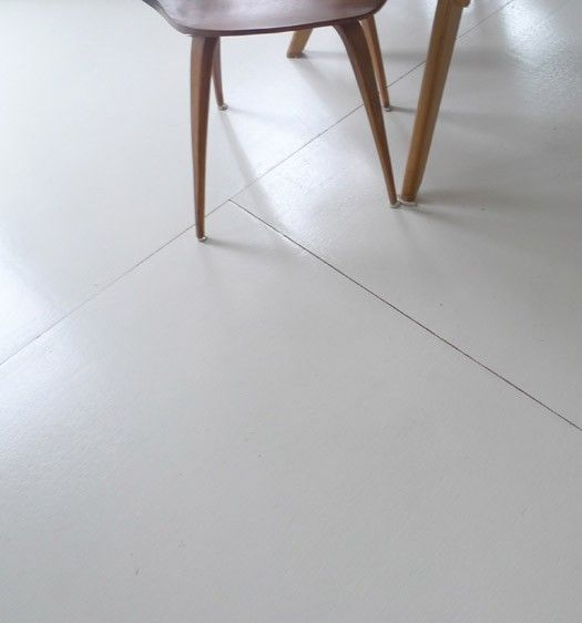 Cool & low-cost DIY thought for flooring.   White wood ...