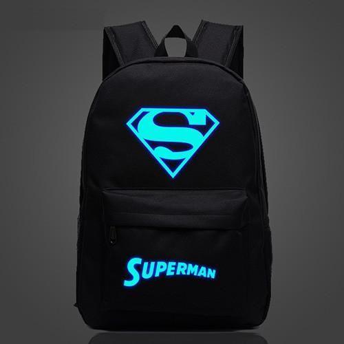 Superman Luminous Backpack 7 Different Colors