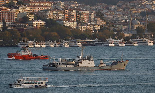 Reconnaissance vessel collides with Togo-flagged boat near Turkish coast and has started sinking, officials say Russian Navy's reconnaissance ship Liman, of the Black Sea fleet, is pictured in the Bosphorus last year. A Russian naval reconnaissance warship has collided with a Togo-flagged boat near Turkey's Black Sea coast and started sinking, prompting an evacuation. A … Continue reading Russian warship collides with freighter in Black Sea →