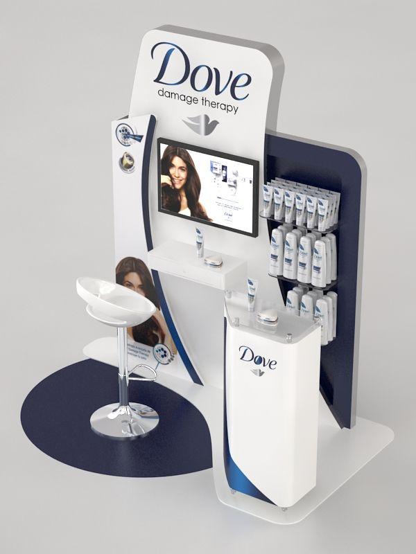 Point of Sale | Health & Beauty Point of Purchase Design | POP | POSM | POS | POP |Dove Module by Ricardo García at Coroflot.com