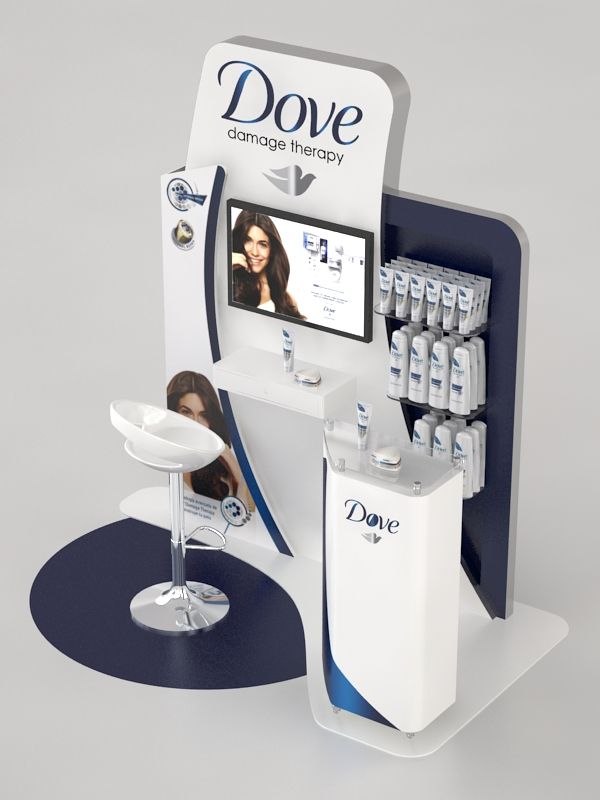 Point of Sale | Health & Beauty Point of Purchase Design | POP | POSM | POS | POP |Dove Module by Ricardo García at Coroflot.com