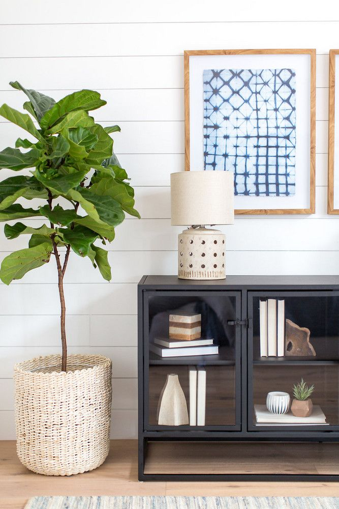 white / wood / black in the entryway