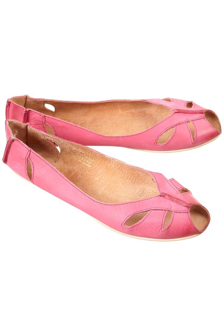 Top Shop - MACARENA Peeptoe Leather Shoes
