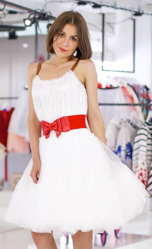 Chicwish TUTU šaty Amálka, bílé