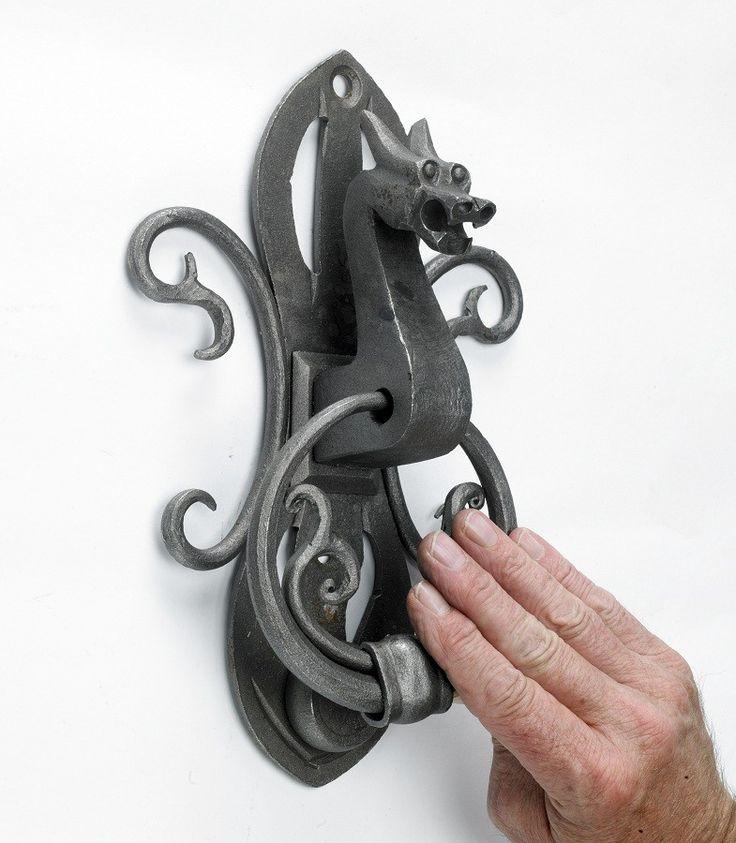 Dagda Dragon Door Knocker - Iron Door Knockers - Door Knockers - Door Furniture - Home & Interiors - Catalogue | Black Country Metal Works