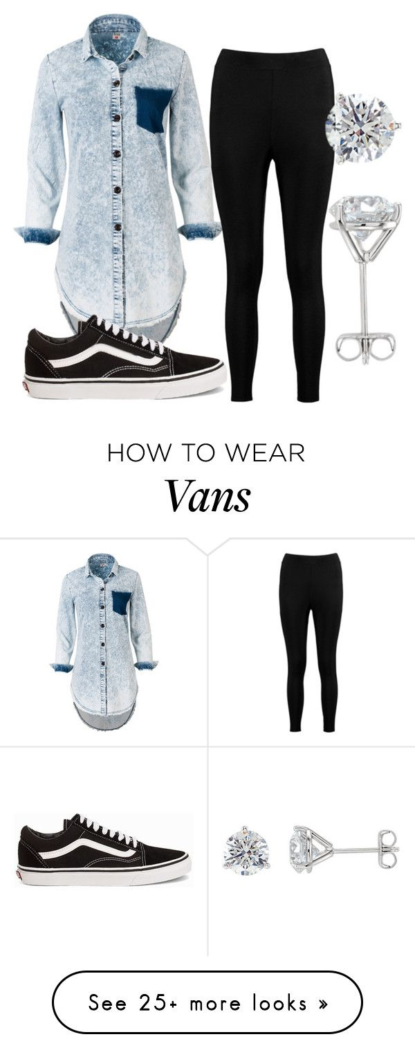 """""""Keep it Simple"""" by bill-board on Polyvore featuring Boohoo and Vans"""