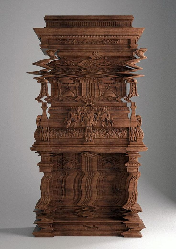 9. A carving resembling a digital glitch. These PIctures Are Not Photoshopped