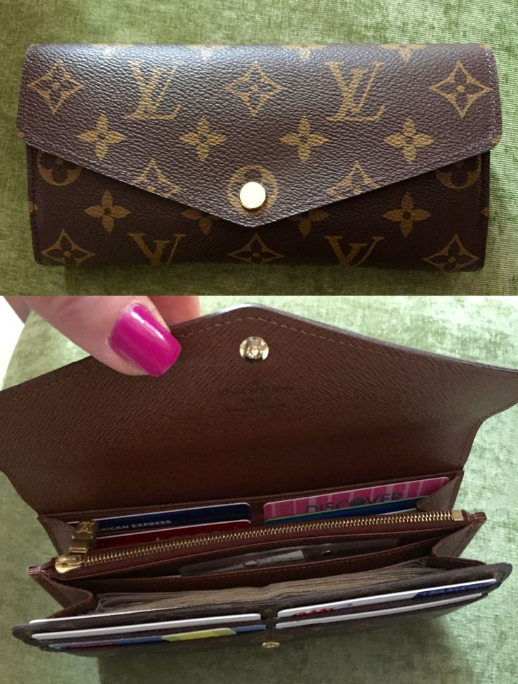 Louis Vuitton Sarah Wallet, newer style, monogram. LOVE this roomy wallet. Great buy for 'pre-loved' wallet on eBay. New fave!