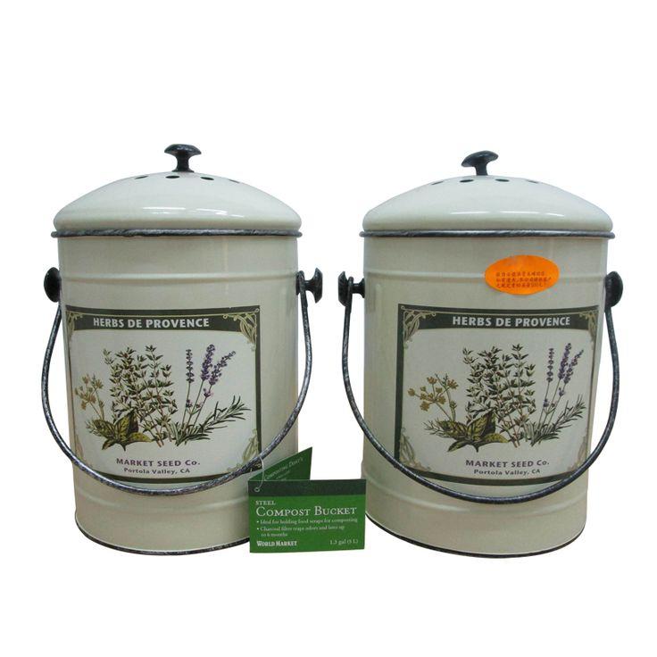 factory price herb metal compost buckettrash bin bucket