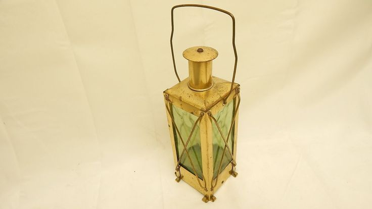 Vintage Brass Lantern Decanter with Music Box Movement in Base Made in Sweden | eBay