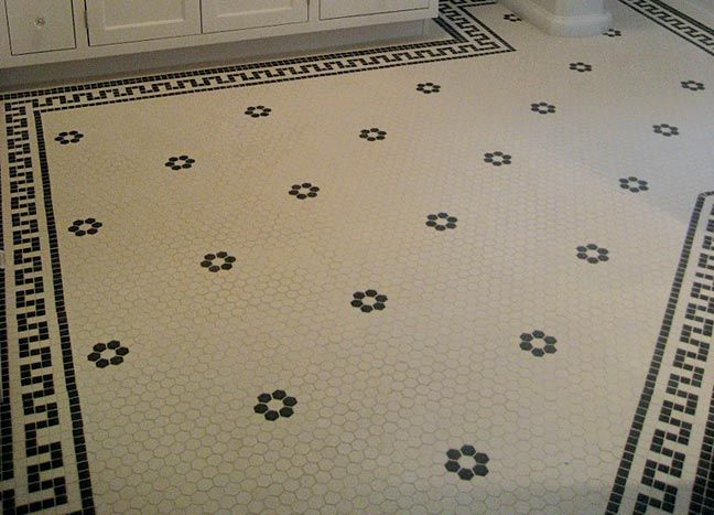 like the flower tile pattern but not the geometric border