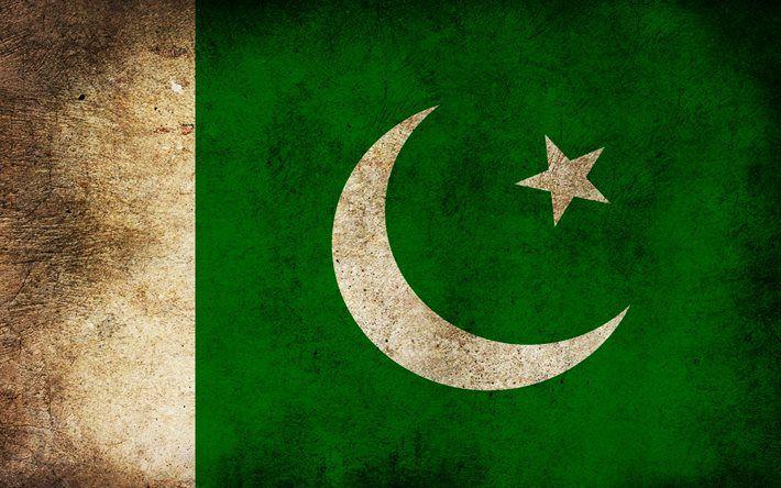 Pakistani flag, grunge, flag of Pakistan, flags, Pakistan flag