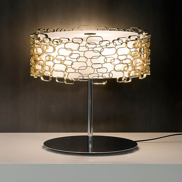 Luxury Table Lamps Modern Gold Plated Geometric Table