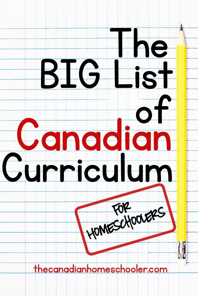 The BIG list of Canadian Curriculum for Homeschoolers: People are always asking me for curriculum options for Canadians. That has been the goal of this blog  to share Canadian resources, but sometimes, a simple list is better. Here are some Canadian curr