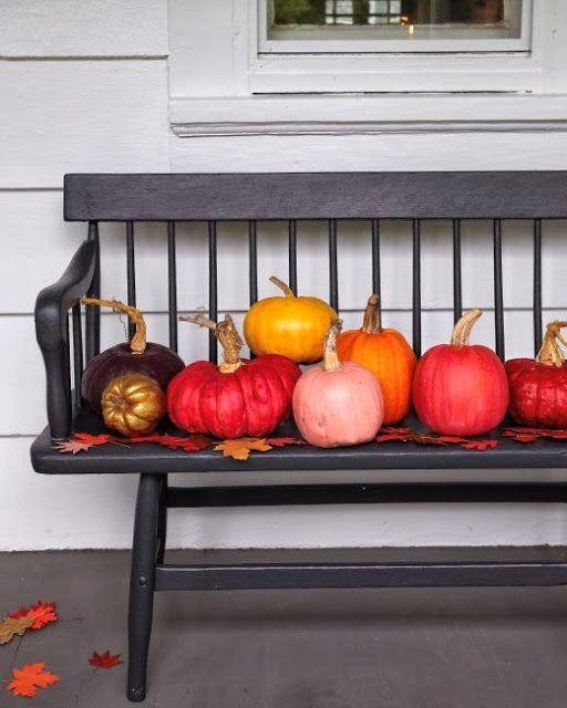 Shades of fall pumpkins.