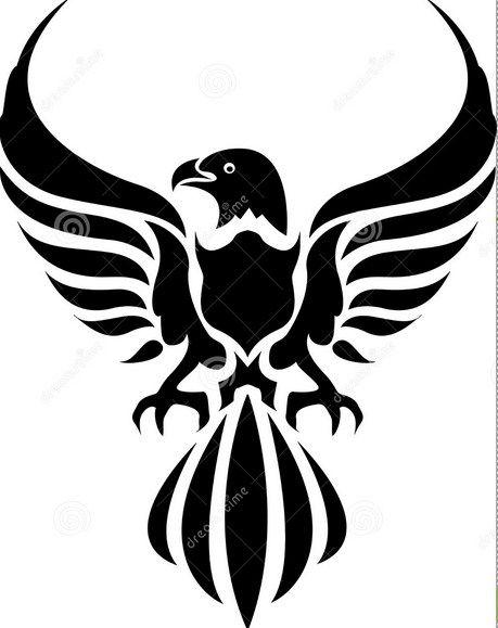 Eagle Tribal Tattoo Design
