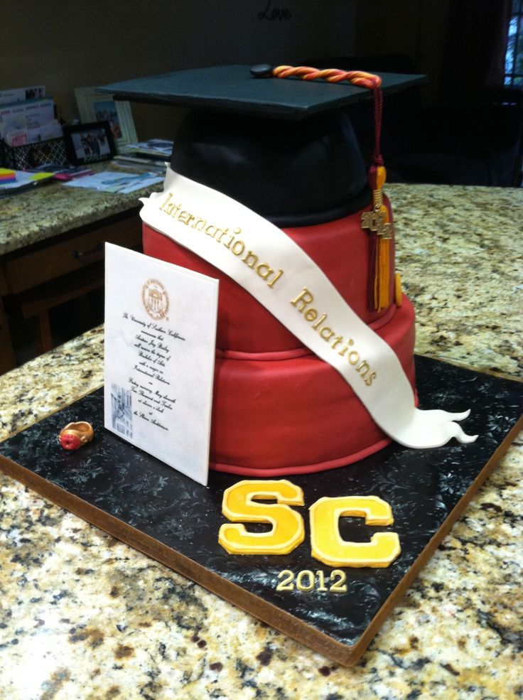 usc graduation cakes