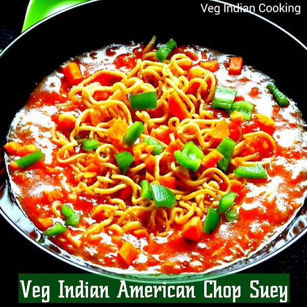 How to make Veg American Chop Suey, Indian Veg American Chop Suey recipe with Yippee noodles,  Crispy Fried Noodles served with Tang...