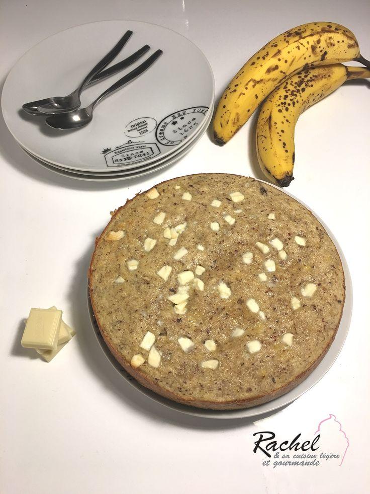 Voici un Gâteau bananes chocolat, sans beurre, sans sucre, sans gluten! Sain, équilbré et bon ! Le top pour un dessert sucré.