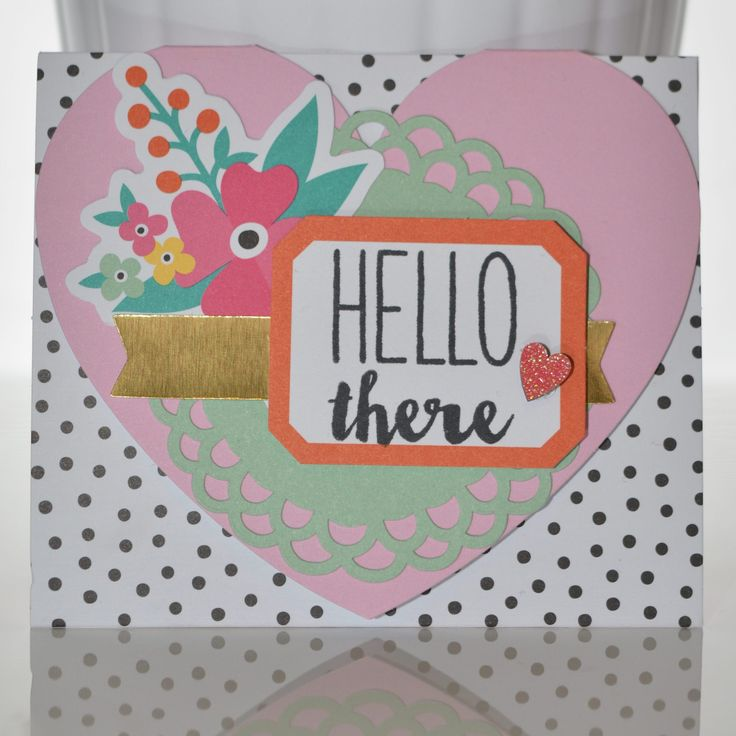 Hello There Trifold Card by #SocialStampers