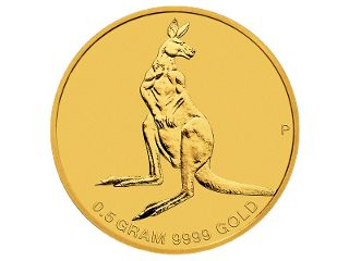 0.5g Gold coin. This delicate, button-sized release presents a golden opportunity for anyone to own an iconic Australian coin. The delightful Mini Roo offers collectors the chance to expand their collection.  This coin is a precious collectable or gift that will stand the test of time. #coincollecting