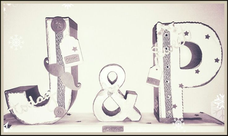 J and P - Silver & white