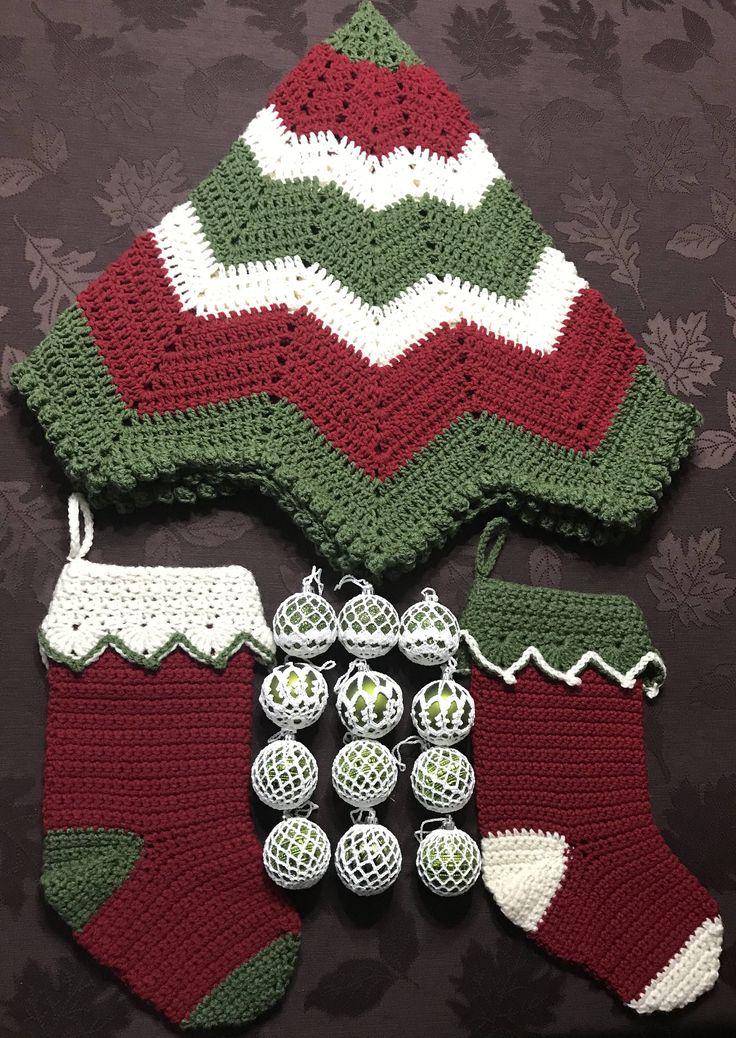Handmade Christmas tree skirt set.  https://www.etsy.com/listing/558725094/save-5-on-this-victorian-christmas-tree