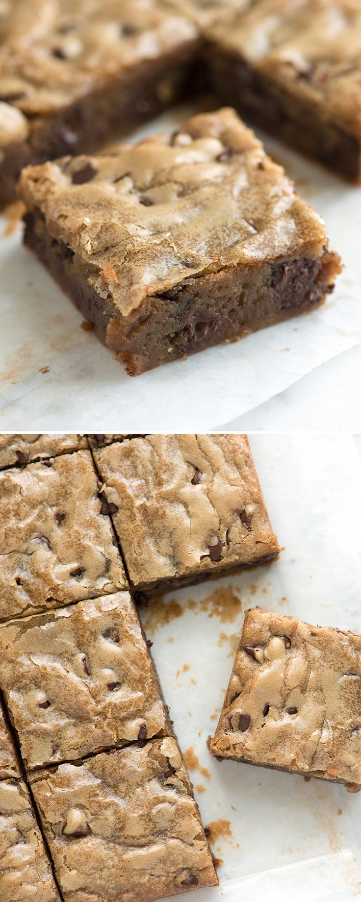 Blondies are one of the simplest, tastiest baked goods you can make. These blondies are perfectly dense with a paper-thin crinkly top and taste like deep, rich buttery caramel. From inspiredtaste.net | @inspiredtaste