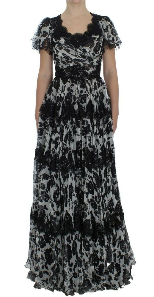 1468154f7a Dolce   Gabbana Black Silk Floral Lace Ricamo Ball Maxi Dress  fashion   clothing  shoes  accessories  vintage  womensvintageclothing (ebay link)