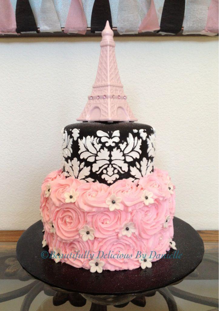 Super Beautiful Paris Themed Birthday Cakes Slubne Suknie Info Funny Birthday Cards Online Fluifree Goldxyz