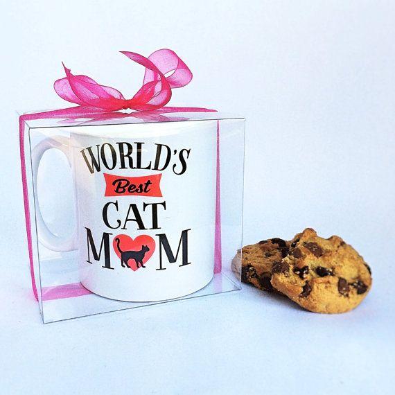 Cat Coffee Mug  Cat Lovers Coffee Mug  Worlds Best Cat Mum