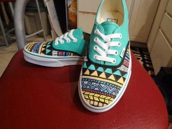 shoes vans aztec blue