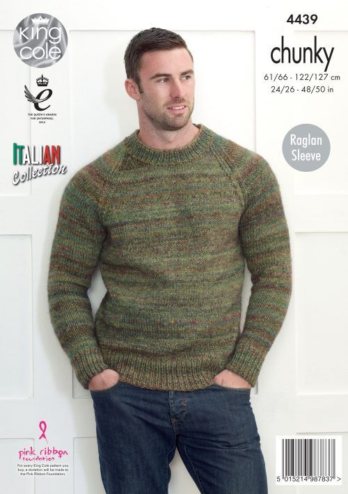 Mens Knitted Round Neck Sweater - King Cole