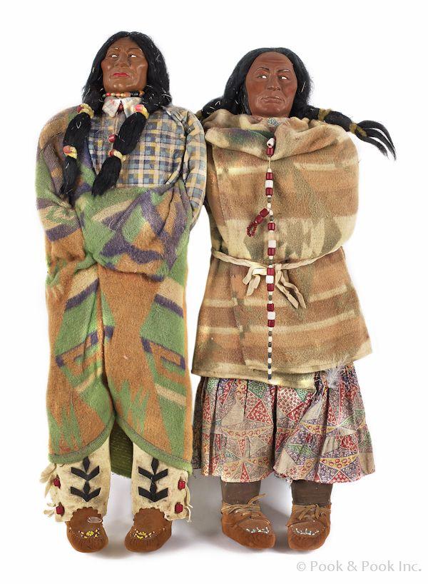 Native American skookum dolls