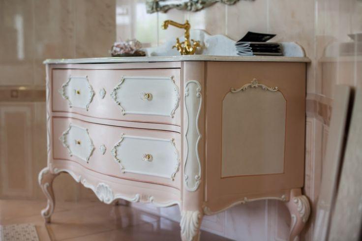 Gaia Mobili, mobile composto da base 2 cassettoni, decorato bianco ...